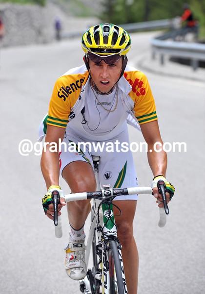 MATTHEW LLOYD ON STAGE FIFTEEN OF THE 2008 GIRO D'ITALIA
