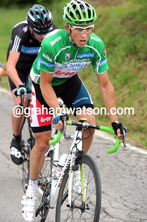 MATTHEW LLOYD ON STAGE EIGHT OF THE 2010 GIRO D'ITALIA