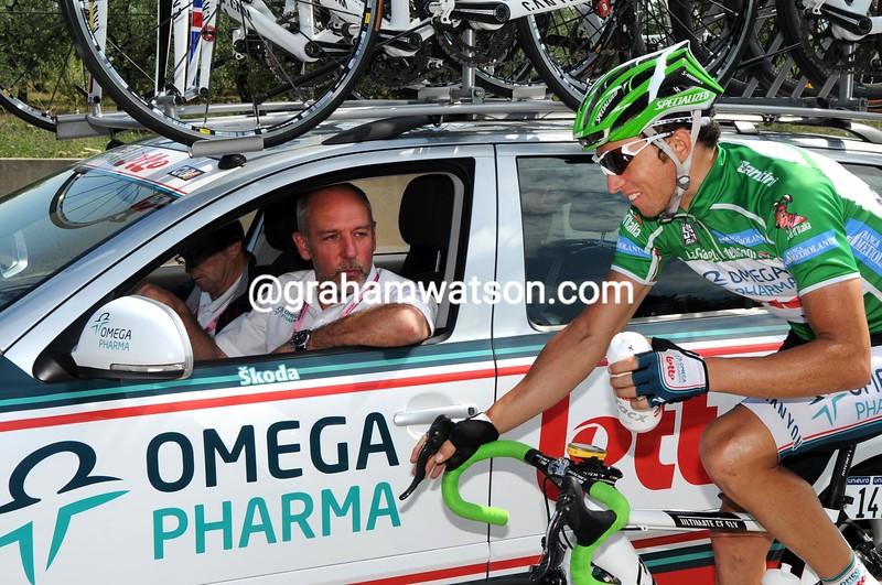 MATTHEW LLOYD AND ROBERTO DAMIANI IN THE 2010 GIRO D'ITALIA