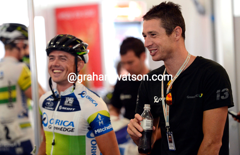 Matthew Wilson and Simon Gerrans before stage six