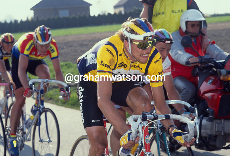 Maurizio Fondriest in the 1989 Tour of Flanders