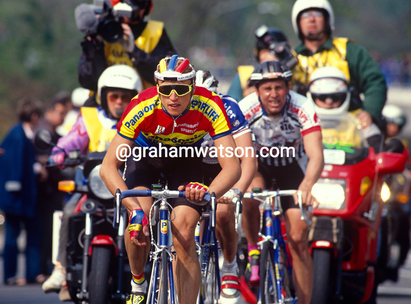 Maurizio Fondriest in the 1990 Amstel Gold Race