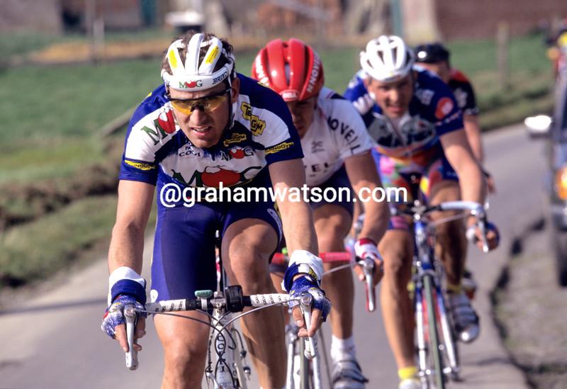 Max Sciandri in the 1994 Tour of Flanders