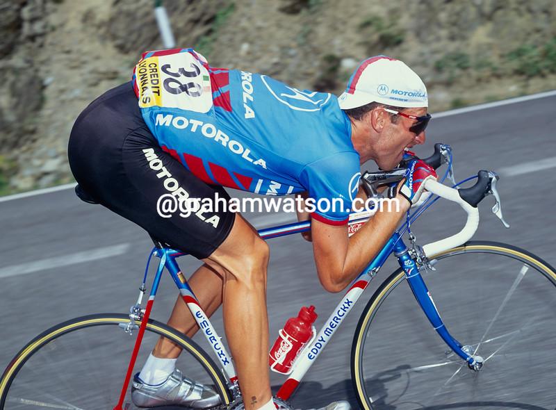 Max Sciandri in the 1992 Tour de France