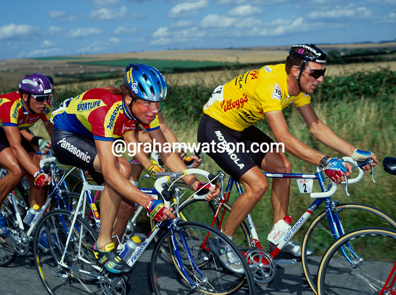 Max Sciandri and Henk Lubberding in the 1992 Kellogg's Tour