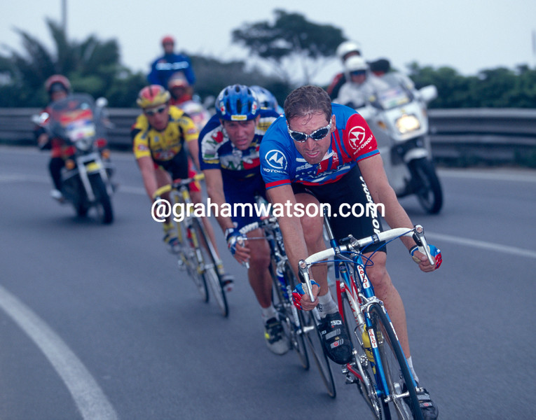Max Sciandri in the 1995 Milan-San Remo