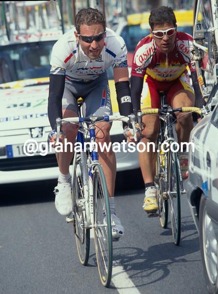 Max Sciandri in the 1997 Paris-Roubaix