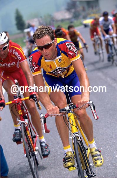 Max Sciandri on a stage of the 2000 Giro d'Italia