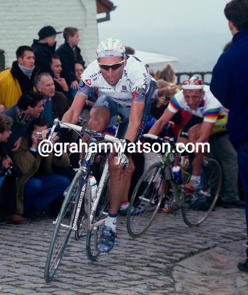 Max Sciandri in the 1998 Tour of Flanders
