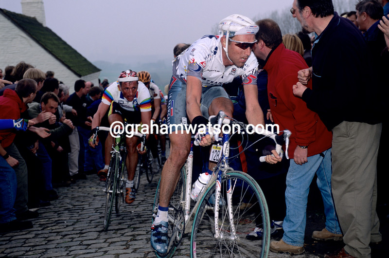 Max Sciandri in the 1997 Tour of Flanders