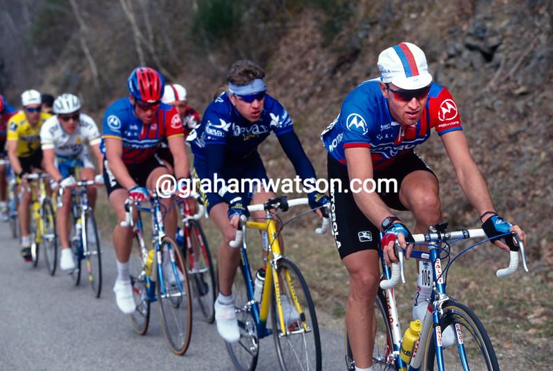 Max Sciandri in the 1995 Paris-Nice
