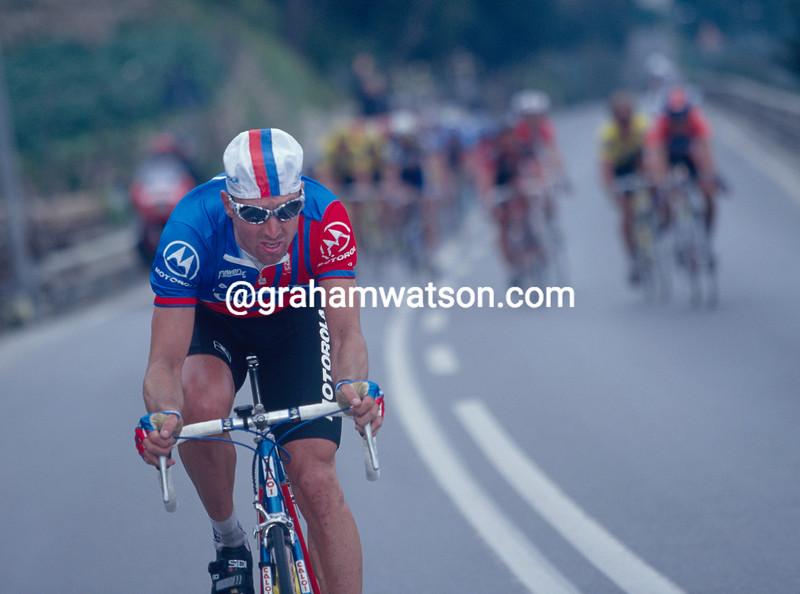 Max Sciandri in the 1995 Milan-San Remo