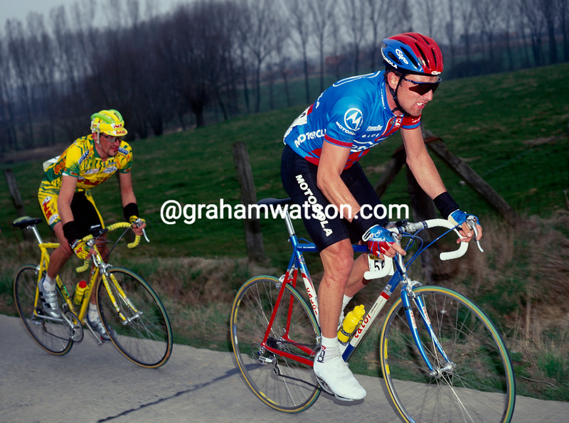 Max Sciandri in the 1995 Tour of Flanders