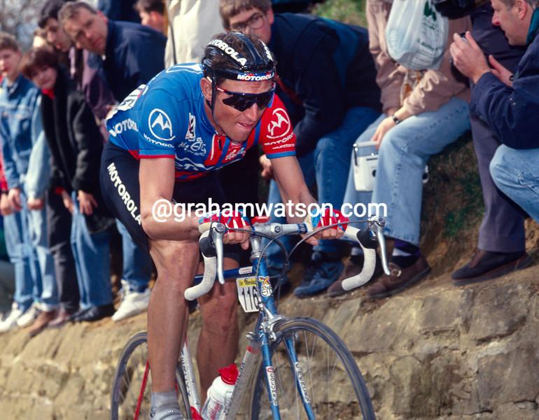Max Sciandri in the 1995 Tour of Flanders