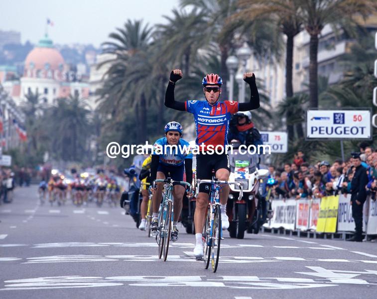 Max Sciandri wins a stage of the 1996 Paris-Nice