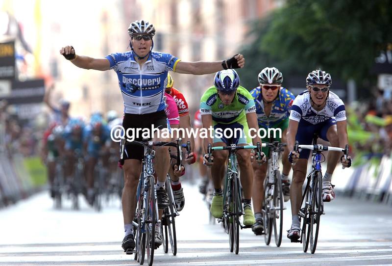 Max Van Heeswijk wins a stage of the 2005 Vuelta a España