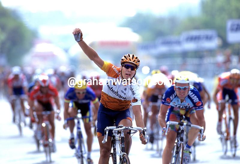 Max Van Heeswijk wins a stage of the 1997 Vuelta España