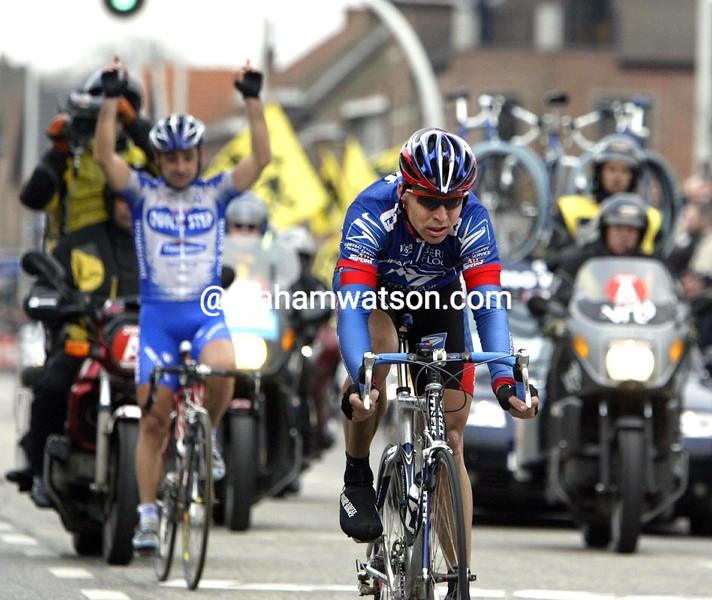 Max Van Heeswijk takes second-place in the 2003 Omloop Het Volk