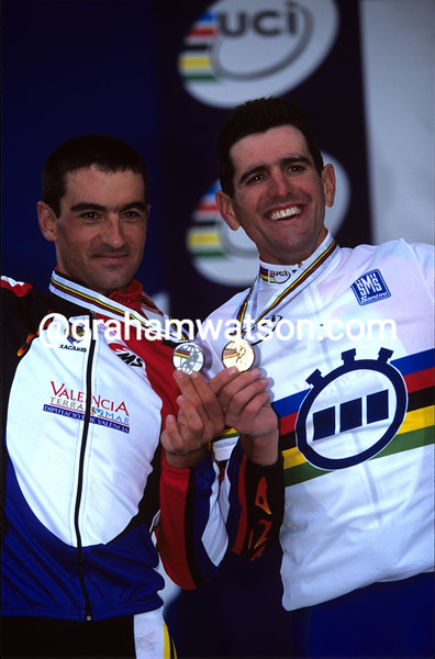 MELCHOR MAURI AND ABRAHAM OLANO IN THE 1998 WORLD CHAMPIONSHIPS