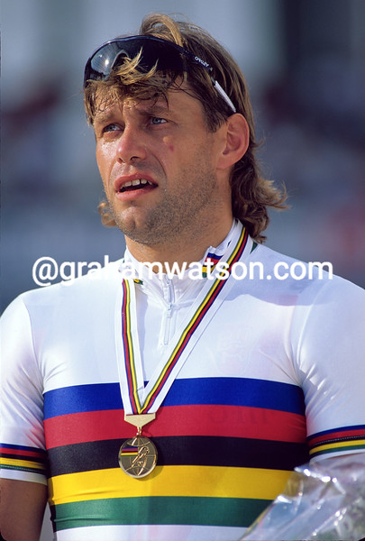 Michael Hubner in the 1992 World Track Championships
