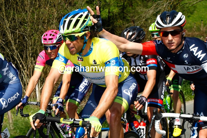 David Tanner and Michael Matthews on stage two of the 2015 Tour of the Basque Country