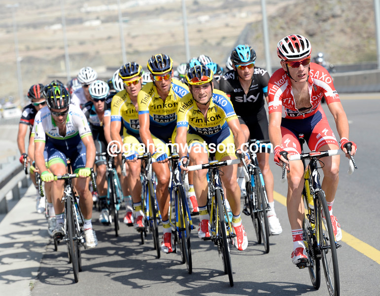 Michael Morkov chases on stage four of the 2014 Tour of Oman