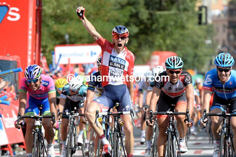 Michael Morkov wins stage six of the 2013 Vuelta a España