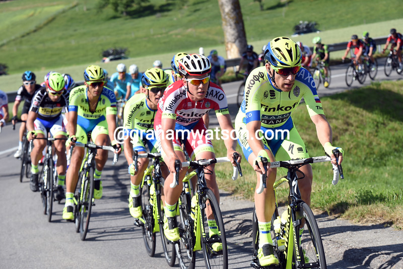 Michael Morkov chases on stage seven of the 2015 Tour de Suisse
