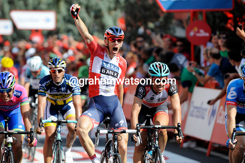 Michael Morkov wins stage six of the 2013 Tour of Spain