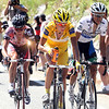 MICHAEL RASMUSSEN LEADS CONTADOR AND LEIPHEIMER ON STAGE SIXTEEN OF THE 2007 TOUR DE FRANCE