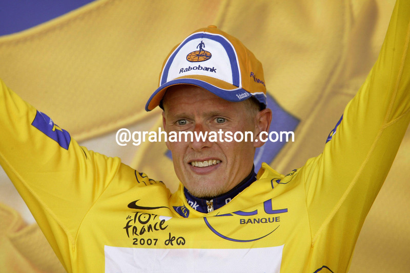 MICHAEL RASMUSEN AFTER STAGE EIGHT OF THE 2007 TOUR DE FRANCE