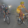 MICHAEL RASMUSSEN LEADS LEVI LEIPHEIMER ON STAGE FIFTEEN OF THE 2007 TOUR DE FRANCE