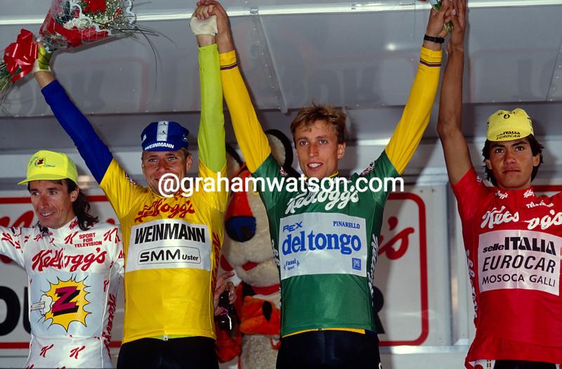 Michel Dernies wins the 1988 Kellogg's Tour of Britain