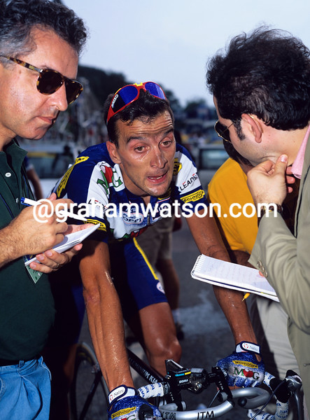 Michele Bartoli in the 1997 Giro Lombardia