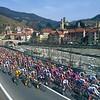 The 2000 Milan San Remo passes through Campo Ligure on the Turchino Pass