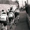 CYCLISTS CLIMB THE POGGIO HILL IN THE 1983 MILAN-SAN REMO
