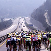 THE MILAN SAN REMO TRAVELS ALONG A MOTORWAY AFTER A STRIKE BLOCKED THE ORIGINAL ROUTE IN 1991