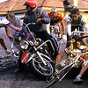 A CRASH IN ON THE DESCENT OF THE CIPRESSA IN THE 1988 MILAN SAN REMO