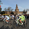 THE PELOTON LEAVES THE START IN THE 2011 MILAN SAN REMO
