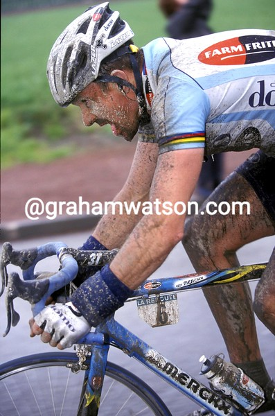 Johan Museeuw in the 2002 Paris-Roubaix