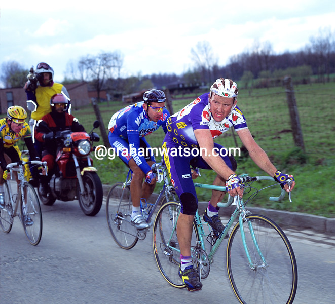 Johan Museeuw in the 1992 Tour of Flanders