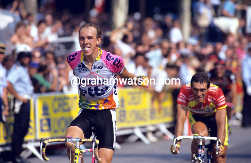 Johan Museeuw in the 1991 Tour de France