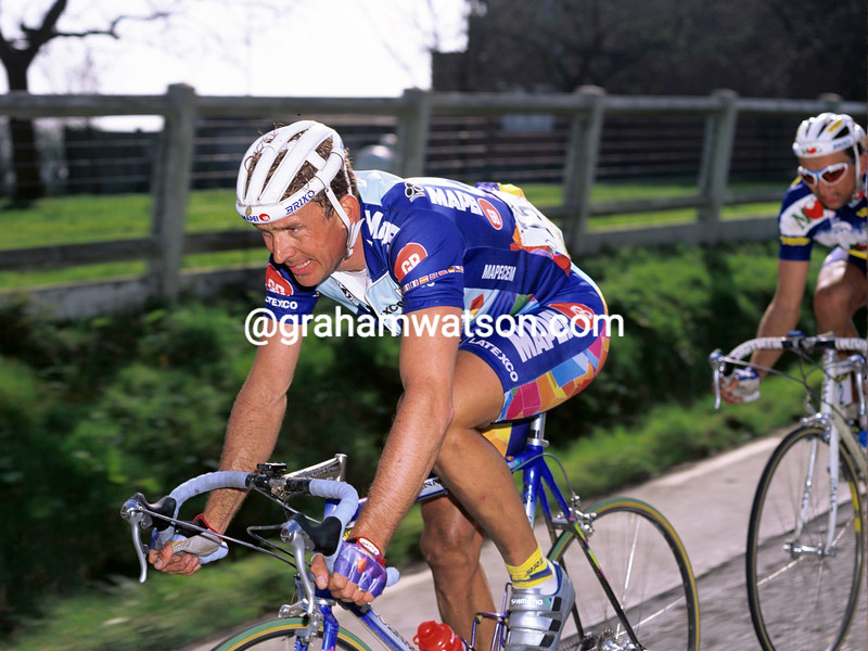 Johan Museeuw in the 1995 Tour of Flanders