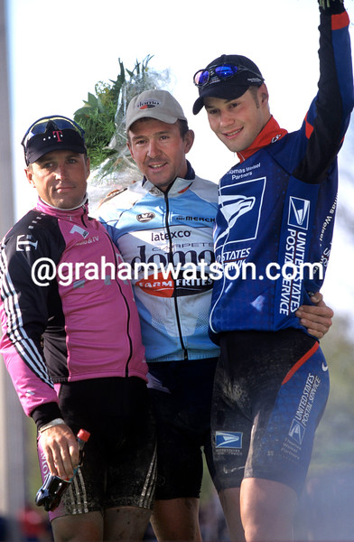 JOHAN MUSEEUW AFTER WINNING THE 2002 PARIS-ROUBAIX