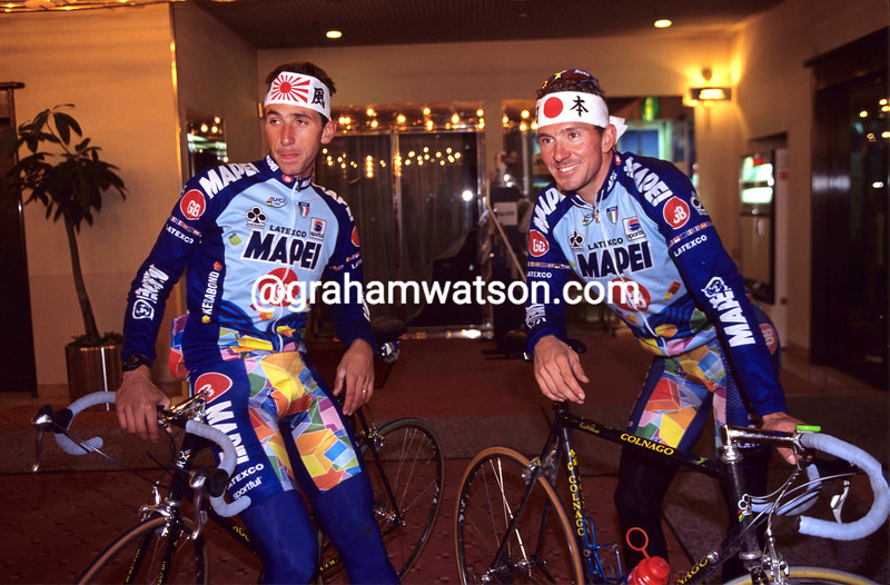 Johan Museeuw and Andrea Tafi in the 1997 Japan Cup