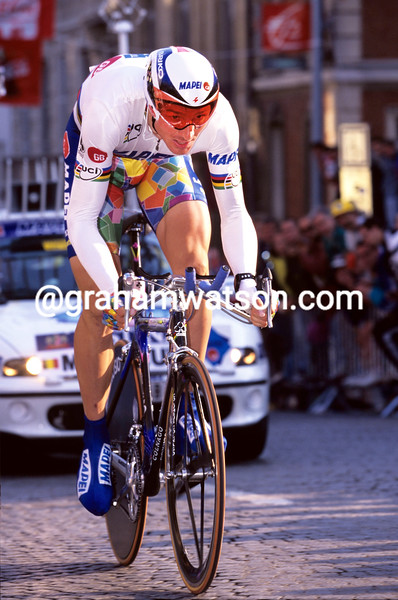 Johan Museeuw in the 1997 Tour de France Prologue