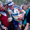 Johan Museeuw after crashing in the 1998 Paris-Roubaix