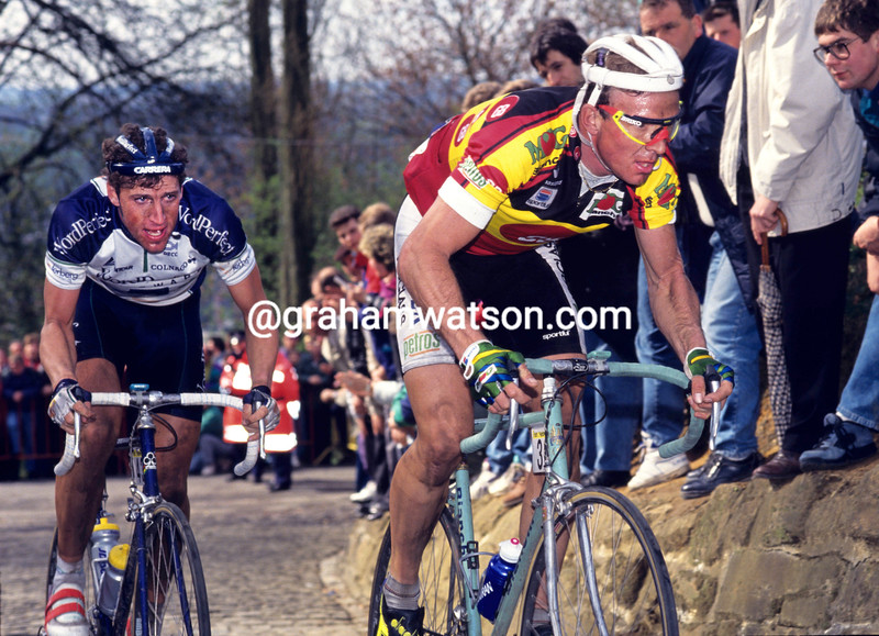 JOHAN MUSEEUW AND FRANS MAASSEN IN THE 1993 TOUR OF FLANDERS