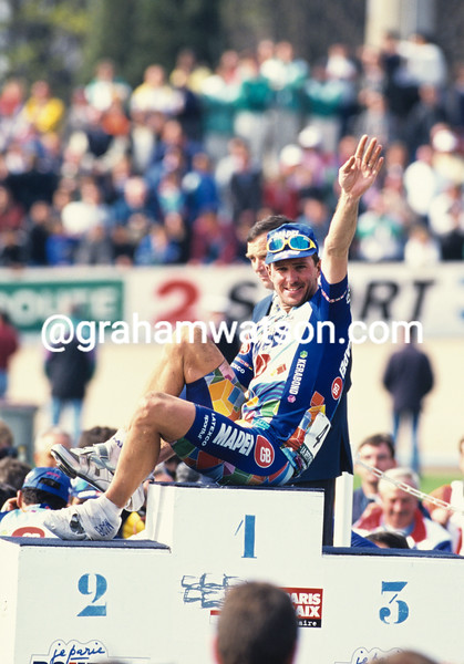 Johan Museeuw in the 1996 Paris-Roubaix