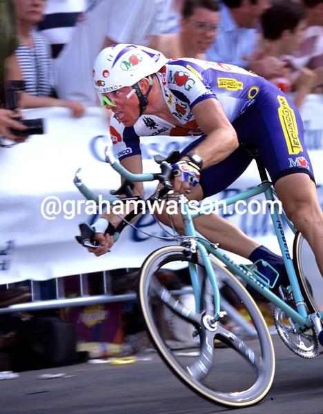 Johan Museeuw in the 1994 Tour de France Prologue